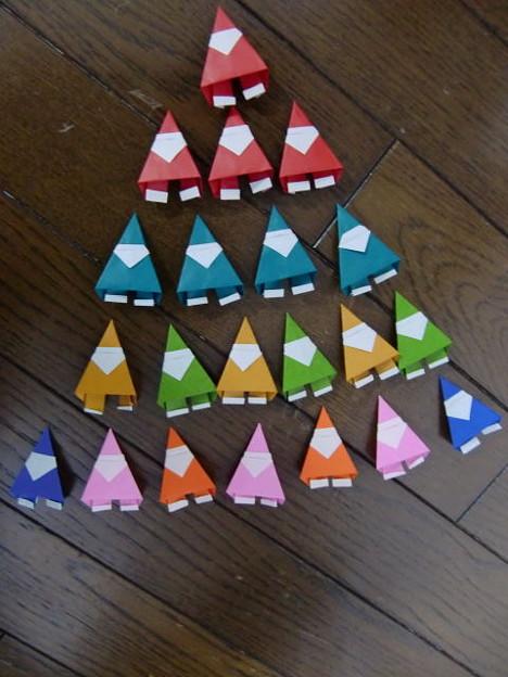 クリスマス 折り紙 サンタ 折り紙 : photozou.jp
