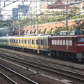 EF81-141+E231系ミツB27編成+山手線4ドア車