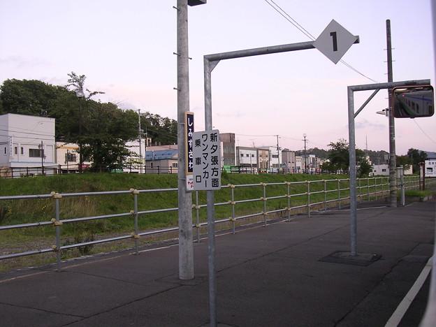 清水沢駅ホーム