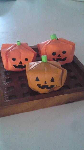 簡単 折り紙 ハロウィン 飾り 折り紙 : photozou.jp