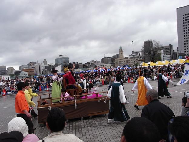横浜民団の行進