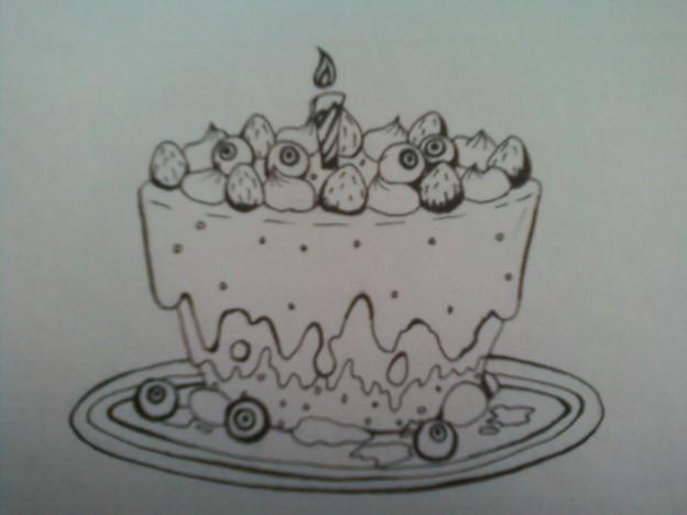 目玉ケーキ