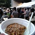 写真: 東京芸大祭なう。キーマカレーやばいうまい。