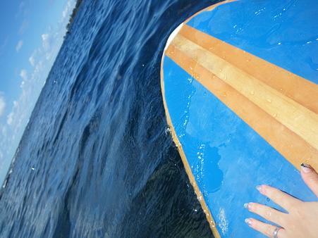 サーフィン中