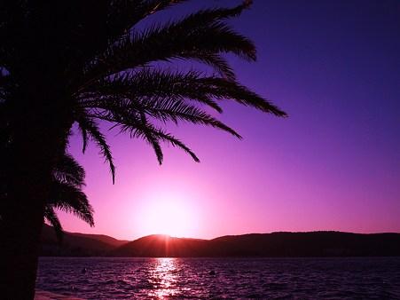 アドリア海に沈む夕日