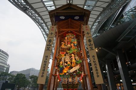 11 2014年 博多祇園山笠 博多駅の飾り山笠 サザエさん (2)