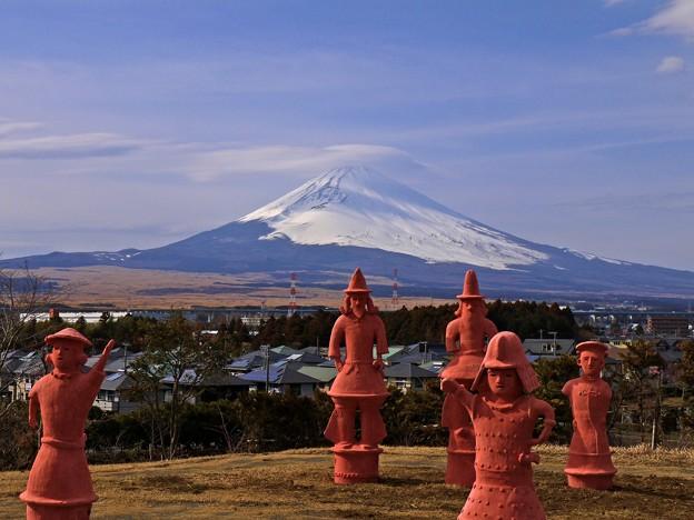 富士山と埴輪