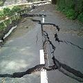 写真: 台風12・15号による道路の陥没4