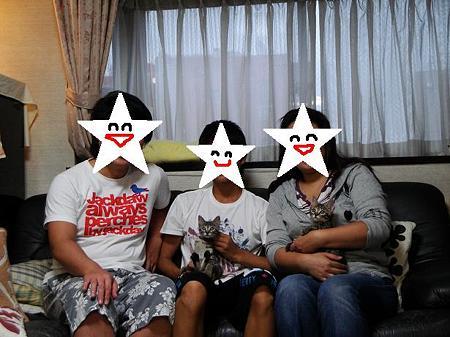 いちご、キウイ家族写真