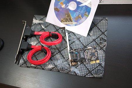 2010.09.29 机 LANカードとSATA外出しコネクタボード
