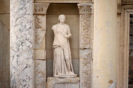 2011.01.23 トルコ 古代都市エフェス ケルスス図書館-1