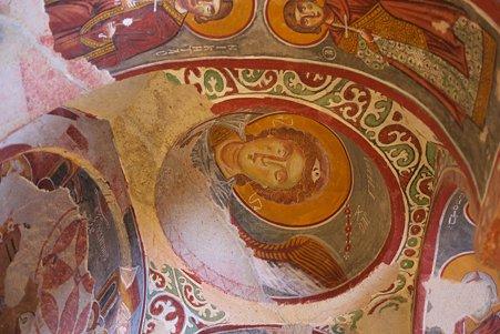 2011.01.26 トルコ カッパドキア ギョレメ野外博物館 エルマル・キリセのフレスコ画-4