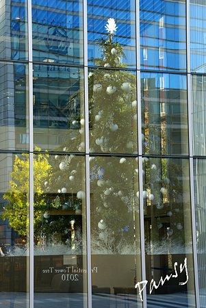 映るツリー・・クリスマスの街角・・4