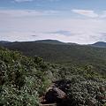 山頂から笊森方面