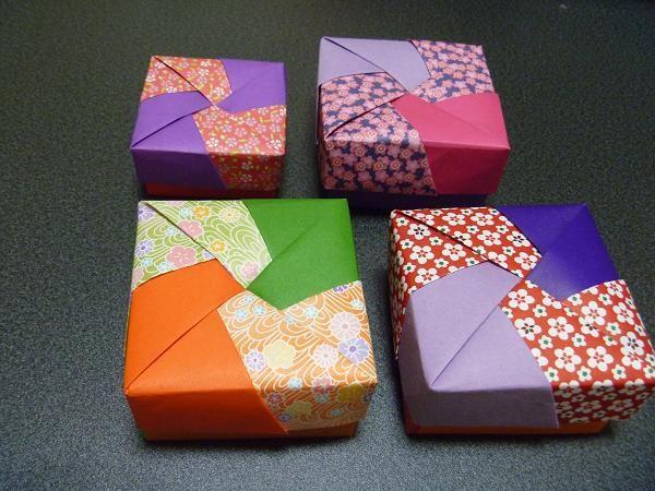 折り紙の 折り紙の箱の作り方 : 四角の箱 - 写真共有サイト ...