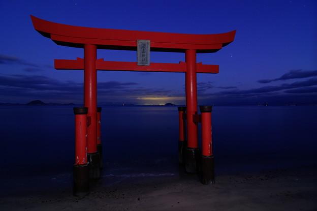 松山の明かり HDR