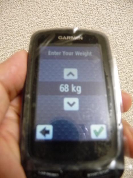 GARMIN EDGE800デフォルト値体重