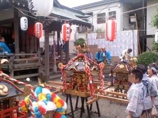 三町内会お神輿勢揃い(7月6日、塩釜神社)