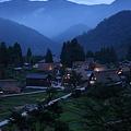 写真: 五箇山 相倉 夕暮れの合掌造り集落(2)