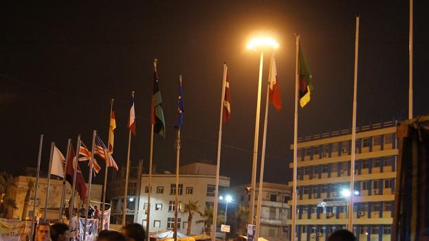反政府派を正式承認した国々の旗