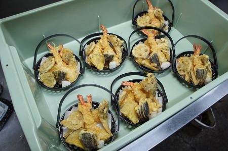 天ぷらにお寿司という昼食