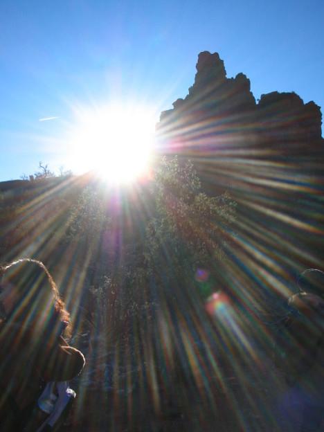 写真: 2006/12/31 太陽シャワー@セドナ