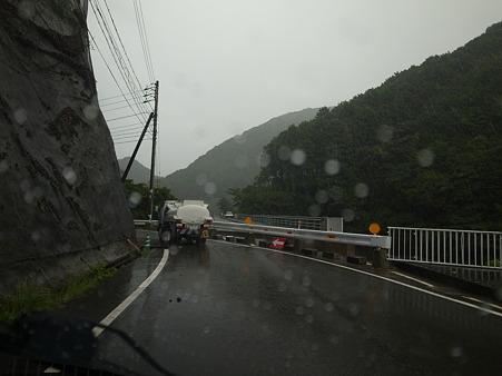 R424:明神トンネル北東の災害現場・1