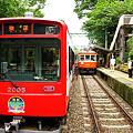 箱根登山鉄道・大平台駅スイッチバック