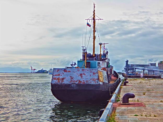 『HDR』秋田港のロシア船