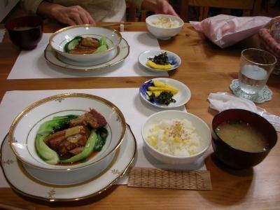 トロトロ角煮とトウモロコシご飯
