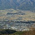 萱野高原より伊那谷を見る