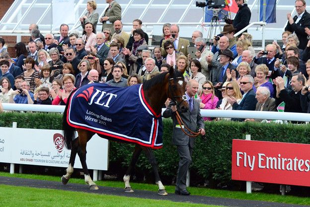 16.Frankel was given a fantastic reception by the crowd -Lockinge Stakes-